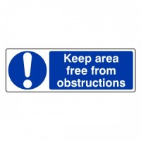 Keep area free from obstructions