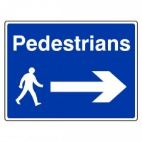 Pedestrians (arrow right)