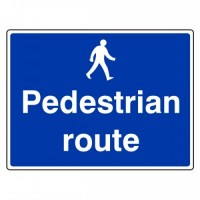Pedestrians route