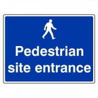 Pedestrians site entrance