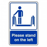 Please stand on the left
