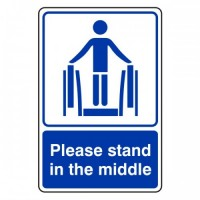 Please stand in the middle