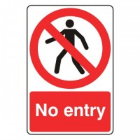 No Entry (with man)