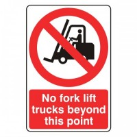 No forklift trucks beyond this point