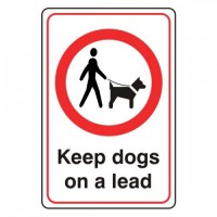 Keep dogs on a lead