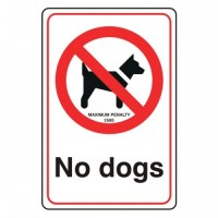 No dogs (with fine)