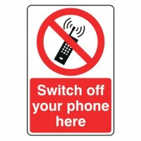 Switch off your phone here