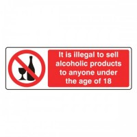It illegal to sell alcoholic products to anyone under the age of 18