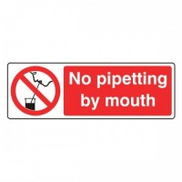 No pipetting by mouth