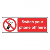 Switch your phone off here