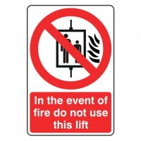 In the event of fire to not use this left