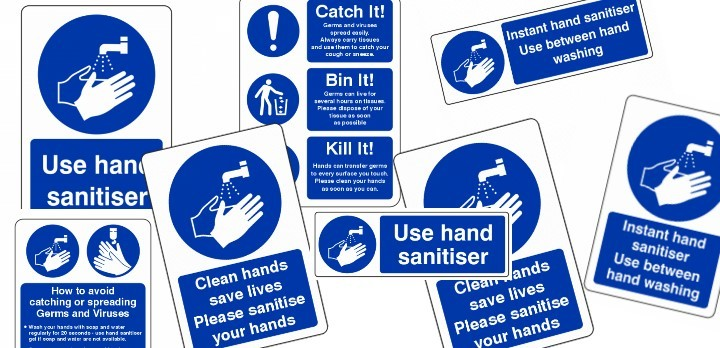 Hand Washing signs for all area's